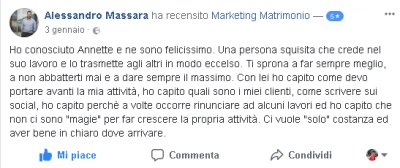 Recensione Alessandro Massara Marketing Matrimonio