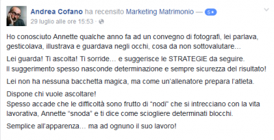 Recensione Andrea Cofano Marketing Matrimonio