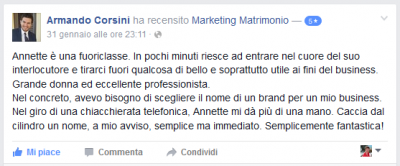 Recensione Armando Corsini Marketing Matrimonio