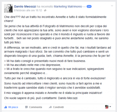 Recensione Danilo Mecozzi Marketing Matrimonio