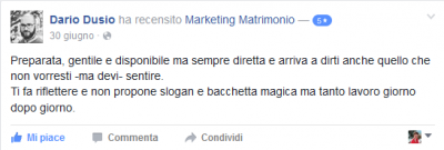 Recensione Dario Dusio Marketing Matrimonio