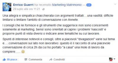 Recensione Enrico Guerri Marketing Matrimonio