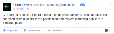 Recensione Fabio Porta Marketing Matrimonio