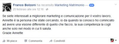 Recensione Franco Bolzoni Marketing Matrimonio