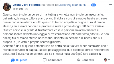 Recensione Greta Intile Marketing Matrimonio