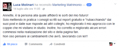 Recensione Luca Molinari Marketing Matrimonio