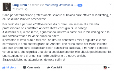 Recensione Luigi Orru Marketing Matrimonio
