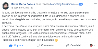 Recensione Marco Soscia Marketing Matrimonio