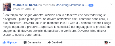 Recensione Michele Di Sarno Marketing Matrimonio